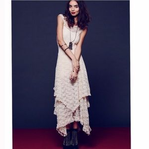 Free People French Court Lace Maxi Dress M